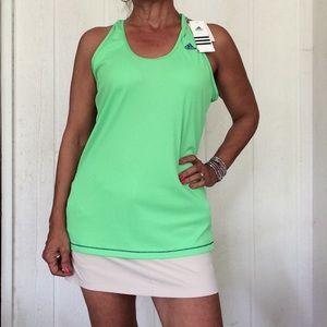 NWT ADIDAS NEON GREEN PERFECT RIBBED TANK XL